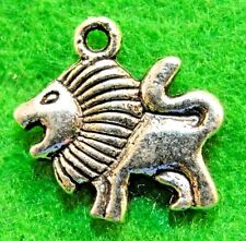 10Pcs. Tibetan Silver LION  2-Sided Animal Charms Pendants Earring Drops AN027