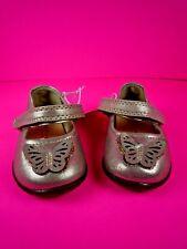GENUINE KIDS  OSH KOSH INFANT GIRL'S BALLET SHOES ~ GOLD / AIMEE ~ SIZE 2 ~ NWT