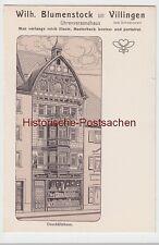 (98961) AK Villingen, Uhrenversandhaus Wilh. Blumenstock, vor 1945