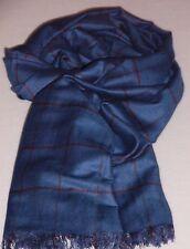 Breiter, langer Schal für Männer, schönes gedecktes Jeansblau, weiche Qualität!