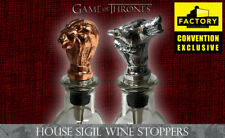 "GAME OF THRONES ""HOUSE SIGIL WINE STOPPER SET"" 2018 SDCC Exclusive NIB"