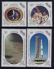 1989 SAMOA MANNED MOON LANDING 20th ANNIVERSARY SET OF 4 FINE MINT MNH/MUH
