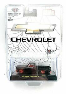 """CHASE M2 1973 CHEVROLET DELUXE 10 PICKUP TRUCK """"BLACK WIDOW"""" 1/64  31500-MJS32"""