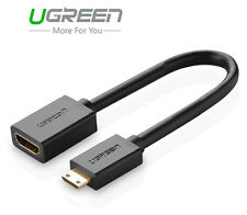 Ugreen Mini HDMI Type C Male to HDMI Female Type A Cable Adapter Converter New