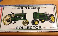NWT John Deere Collector Truck Tag License Plate 6x12 Vintage Tractors Excavator