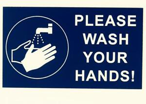 Please Wash Your hands Sign- Engraved NOT Vinyl Sticker