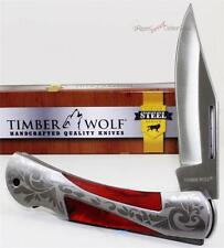 Timber Wolf Rich Grain Hardwood Gentleman's Lockback Folder Folding Pocket Knife