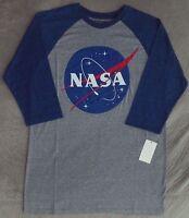 Official NASA Distressed Logo Men's Heather Grey T Shirt ...