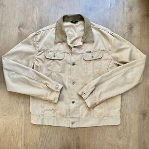 Diesel Vintage Trucker Cotton Tan/Brown/Sand Jacket Size XXL