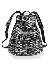 New Victoria's Secret PINK Canvas Backpack Zebra School Campus Travel Bag Tote