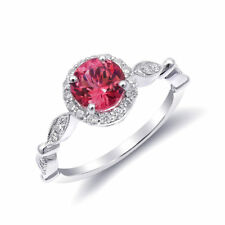 Natural Neon Tanzanian Spinel 1.10 carats set in 14K White Gold Ring