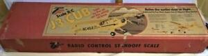 Vintage Top Flite Red Box J3 J-3 Piper Cub Scale RC Wood Airplane Kit