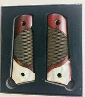 1911 GRIPS for Colt & Clones Gun Grips Mother of Pearl Rosewood Bottom Pearl