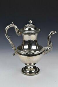 Early American Coin Silver Tea / Coffee Pot Bard & Lamont Philadelphia