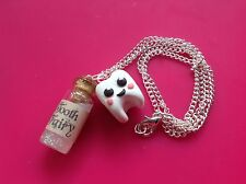 Tooth Fairy Necklace Handmade Glitter Gift Cute dentist gift school party