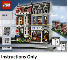 NEW INSTRUCTIONS ONLY LEGO PET SHOP 10218 modular building book from set