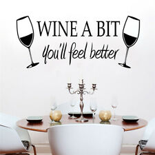 Am_ Red Wine Cup Door Wall Fridge Sticker Self Adhesive Home Kitchen Decor Decal