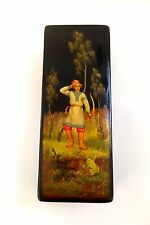 Fedoskino Prince Ivan Hand Painted Papier-mache Lacquer Box 1972 high quality