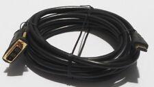 Hama 71170 DVI zu HDMI Kabel 5m Kontakte vergoldet DVI-D Single Link schwarz NEU