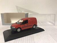 Minichamps 1:43 VW Caddy Modellauto Modelcar Scale Model Car Geschenk Van Rot