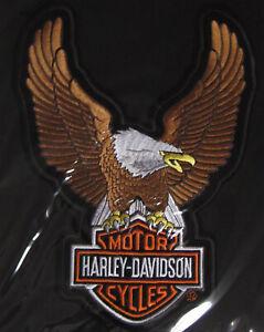 "Harley Davidson Up Wing Eagle Brown Patch Large ""Ships International"""