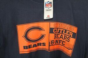 Chicago Bears NFL Team Apparel Cutler Long Sleeve Size L Blue 100% Cotton Shirt