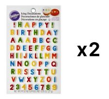 Wilton Alphabet Letters & Numbers Edible Icing Cake Cupcake Decorations (2-Pack)