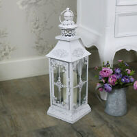 Antique white vintage candle lanter shabby vintage chic wedding garden lighting