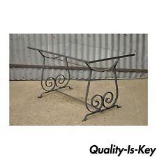 Vintage Modern Wrought Iron Outdoor Patio Garden Coffee Table Salterini Style
