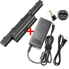 New Battery/Charger for Acer As10D31 As10D51 Gateway 4741 As10D71 As10D75 Laptop