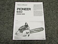PIONEER CHAINSAW, MODEL 650 CHAIN SAWS SPECIFICATIONS, MANUAL