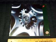 1995 MG F Car Catalog Dealer Sales Brochure