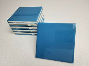 Electric Blue 4 in Ceramic Tile 4.25 inch Daltile Color 1194 4x4 Subway Square