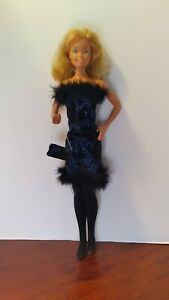 """PRETTY  BLUE SPARKLE DRESS  OUTFIT FOR 18"""" SUPER SIZE BARBIE DOLL- OUTFIT ONLY"""