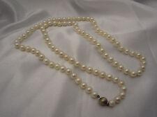 Sehr lange Perlenkette 83 cm aus Akoya-Zuchtperlen 7,6 mm - 7,8 mm