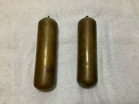 Antique Longcase Weights Bronze and Copper Lead Weights For Grandfather Clock