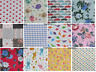 FAT QUARTER COTTON Fabric pattern Colours for crafts and quilting