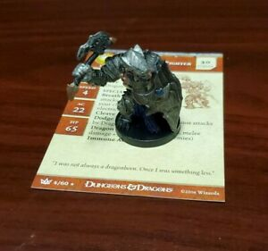 Dungeons & Dragons Miniature Dragonborn Fighter War of the Dragon Queen, w/card