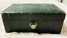Antique Vintage ENGLISH MAKE Wooden Jewellery Box With Key