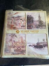Antique Singapore Scenery Coasters Set Of 6