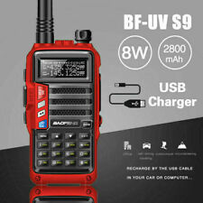 Baofeng Uv-S9 8W Vhf Uhf Dual Band Two Way Radio Transceiver & Usb Charger Cable