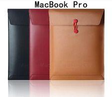 Housses et sacoches rouges en cuir pour ordinateur portable