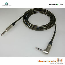 6m Gitarrenkabel SPIRIT XXL Sommer Cable Neutrik Klinke 6,3 mm gerade-Winkel