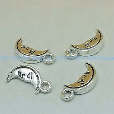 moon charm 20pcs pendant silver DIY wholesale jewellery making supplies
