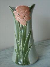 VINTAGE KATHY SMALLWOOD Signed 1989 Gorgeous  Pierced Art Pottery Vase EUC