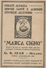 Z2189 G. B. Izar Fabbrica Posateria Marca CIGNO - Pubblicità d'epoca - Advertis.