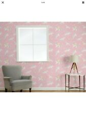 Laura Ashley Unicorns Pink Wall Same Batch Price For 2 Rolls)- For Feature Wall