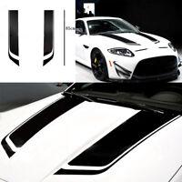 Black Stripe Auto Graphic decal Vinyl car truck body racing stripe universal