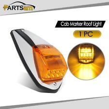 Yellow 17 LED Cab Marker Roof Running Top Light Lamp+Chrome Base for Peterbilt