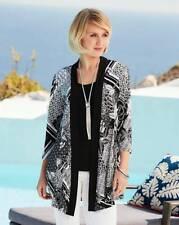3f05ac1e Nightingales Print Jersey Kimono Black Size UK 16 Dh091 BB 11
